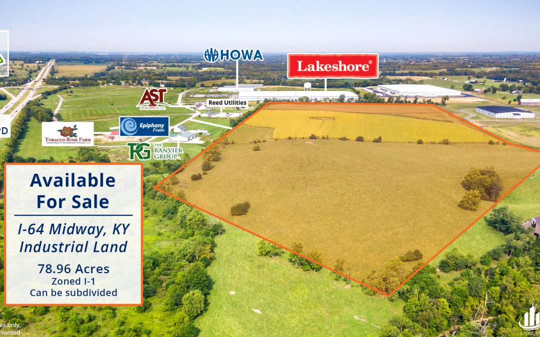 Midway, KY I-64 Industrial Land For Sale